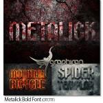 دانلود فونت انگلیسی متالیک ضخیم Metalick Bold Font