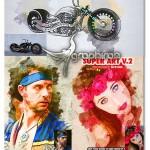 اکشن فتوشاپ افکت های ترکیبی رنگی Super Art V.2 Photoshop Action
