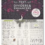 دانلود ۲۴۰ المان گرافیکی گل و حاشیه Text Dividers & Enhancers