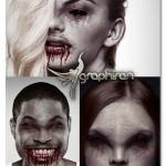 اکشن فتوشاپ تبدیل چهره به خون آشام Vampire Photoshop Action