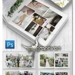 دانلود قالب لایه باز آلبوم عکس عروسی Wedding Photobook Template