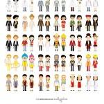تصاویر وکتور زن و مرد در ۳۰ شغل Men & Women Profession Flat Designs