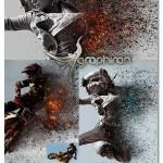 اکشن فتوشاپ خاکستر و آتش Ashes n Embers Photoshop Action
