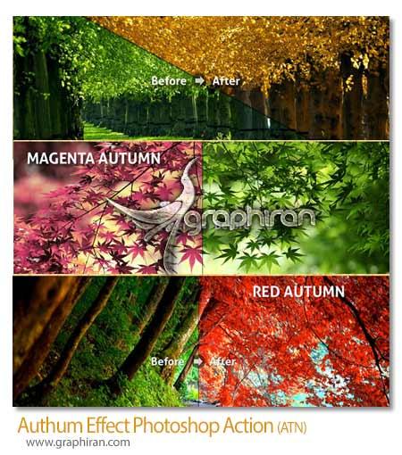 اکشن فتوشاپ افکت رنگ های پاییز