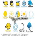 دانلود مجموعه طرح های وکتور لوگو تخم مرغ محصول Fotolia
