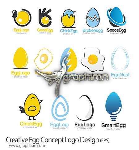 طرح وکتور لوگوی تخم مرغ