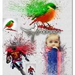 اکشن فتوشاپ انفجار رنگ ها در عکس Explodo Photoshop Action