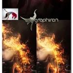 اکشن فتوشاپ ساخت انیمیشن آتش گرفتن Gif Animated Fire Photoshop Action