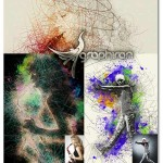دانلود اکشن فتوشاپ افکت نقاشی با خطوط هنری Line Art