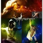 اکشن فتوشاپ افکت شب جادویی Magic Night Photoshop Action