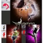 اکشن فتوشاچ ترکیب المان های گرافیکی Mix Art Photoshop Action