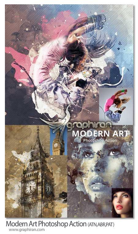 اکشن فتوشاپ هنر ترکیب رنگی مدرن