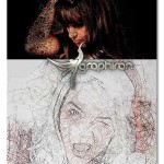اکشن فتوشاپ افکت عکس با خطوط دایره ای Pentul Photoshop Action