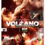 اکشن فتوشاپ کوه آتشفشان Volcano CS3+ Photoshop Action