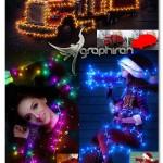 اکشن فتوشاپ چراغ های کریسمس Christmas Lights Photoshop Action