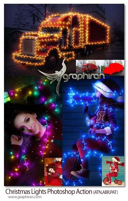 اکشن فتوشاپ چراغ های کریسمس