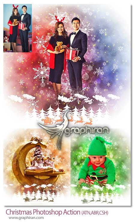 اکشن فتوشاپ ساخت افکت کریسمس