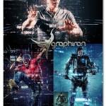 اکشن فتوشاپ افکت انتشار کد روی عکس Code Art Photoshop Action
