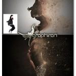 اکشن فتوشاپ افکت گرد و غبار حرفه ای Dust Master Photoshop Action
