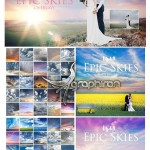 ۵۰ عکس بک گراند آسمان ابری بسیار زیبا EPIC Skies Cloud Overlays