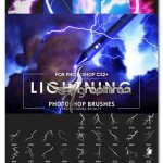براش فتوشاپ رعد و برق Electrifying Lightning Strikes Brushes
