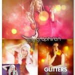 اکشن فتوشاپ افکت نقاط درخشان Glitters Photoshop Action