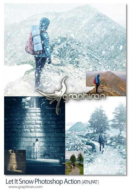 اکشن فتوشاپ بارش برف زیبا