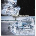 پروژه افتر افکت موشن پخش شدن برف Winter Splash Motion