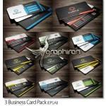 دانلود پک ۳ طرح وکتور کارت ویزیت تجاری لایه باز – شماره ۳۹۳