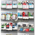 دانلود مجموعه ۱۰ تراکت و آگهی تبلیغاتی مشاغل PSD لایه باز