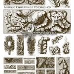 براش فتوشاپ نقوش حکاکی آنتیک Antique Engravings PS Brushes