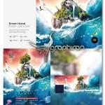 دانلود طرح پوستر و کاور فیسبوک جزیره رویاها PSD لایه باز