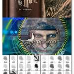 براش های خطوط حکاکی فتوشاپ Ron's Engraver Marks and Screens