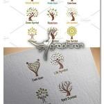 دانلود مجموعه وکتور طرح های لوگو و آرم درخت های سبز و طبیعت