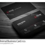 دانلود کارت ویزیت تبلیغاتی و تجاری مینیمال PSD لایه باز – شماره ۴۰۰