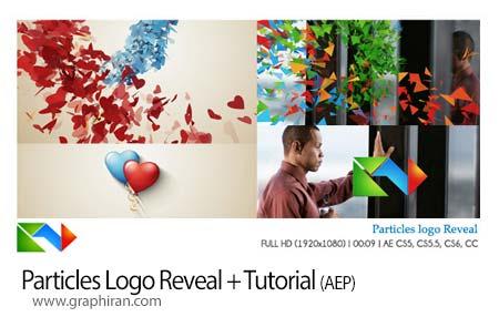 پروژه افتر افکت نمایش لوگو با چسبیدن ذرات