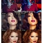 اکشن زیباسازی رنگ های عکس Pro Image Enhancer Photoshop Action