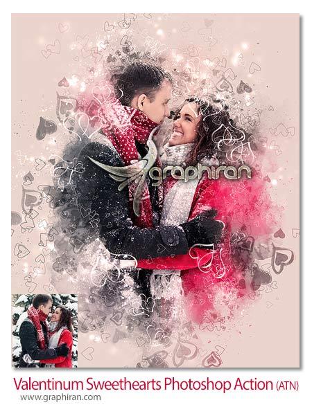 اکشن فتوشاپ افکت عکس عاشقانه