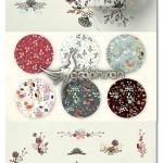 دانلود پک طرح های وکتور گل رنگی فانتزی Washed Colors Flowers