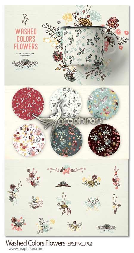 مجموعه تصاویر وکتور گل های تزئینی