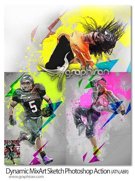 اکشن فتوشاپ هنر ترکیب رنگ ها