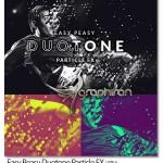 اکشن فتوشاپ رنگی کردن ذرات عکس Easy Peasy Duotone Particle FX