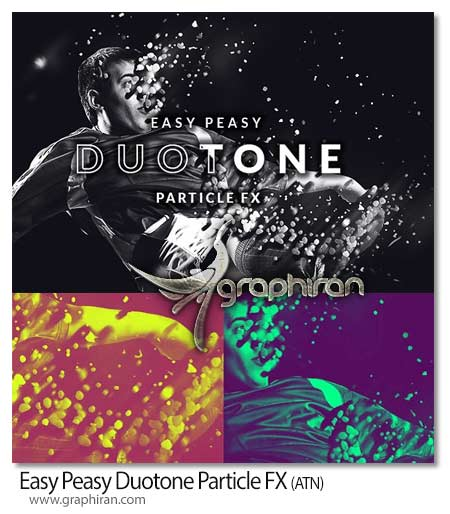اکشن فتوشاپ رنگی کردن ذرات عکس