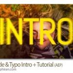 پروژه افتر افکت اسلایدهای سریع با متن Fast Slide & Typo Intro