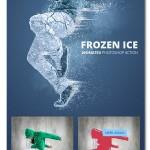 اکشن انیمیشن یخ زدن سوژه Frozen Ice Gif Animated Photoshop Action
