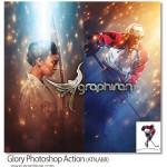 اکشن فتوشاپ افکت های نوری با شکوه Glory Photoshop Action