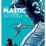 اکشن فتوشاپ افکت پلاستیک براق Glossy Plastic Photoshop Action
