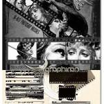 براش های فتوشاپ لبه و حاشیه نوار فیلم Ron's Film Edges