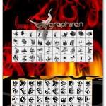 دانلود ۸۰ براش شعله های آتش Ron's Flames Photoshop Brush