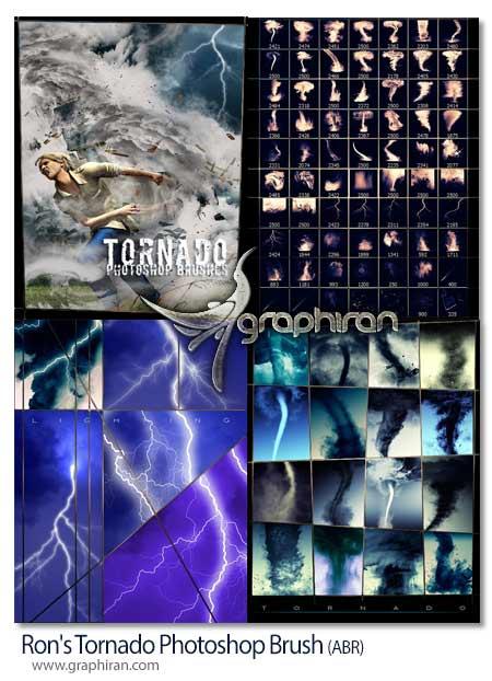 مجموعه براش های فتوشاپ گردباد و طوفان